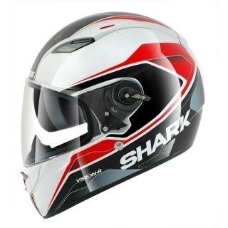 Shark Vision R Syntic ST White Black Red Motorcycle Helmet