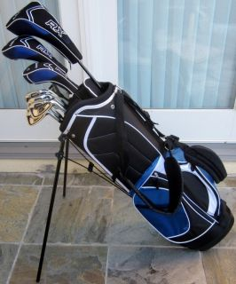 Complete Ti Golf Club Set Driver Wood Hybrid Irons Putter Stand Bag