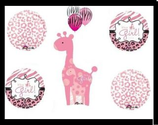 SAFARI girl baby shower party decorations chocolate pink giraffe 8