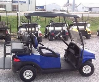 Club car precedent 48 volt electric golf cart with new body blue