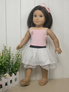 3PCs Fashion Dance Dress Doll Clothes Outfit for 18 American girl