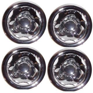 Golf Cart EZGO, Yamaha, Club Car 8 Chrome Deep Dish Wheel Hub Caps