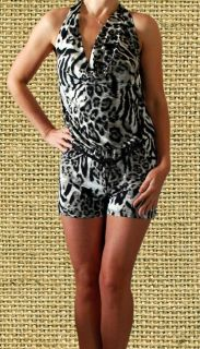 Leopard Tiger Print Clubbing Evening Sexy Womens Party Clubwear