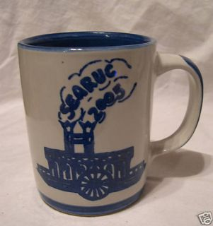 Louisville Stoneware POTTERY coffee cup Mug SEARUG 2005 sea rug boat