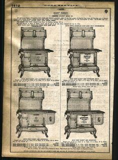 1921   22 AD Simmons Wilson Coal Wood Burning Stove Cast Ranges