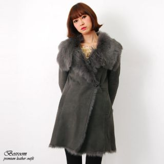 shearling womens coat sheepskin leather coats jacket genuine shearling