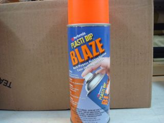 NEW 11218 6 BLAZE ORANGE 11OZ PLASTI DIP RUBBER HANDLE SPRAY COATING