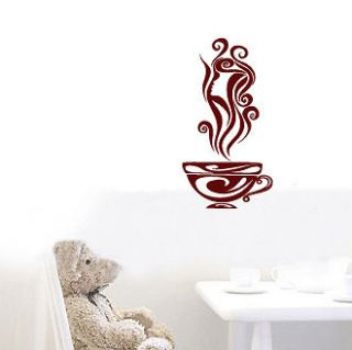 COFFEE CUP   Vinyl Wall Art Decal Sticker Mural Cafe