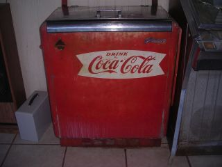 Vintage 1950 GBV 50 Coca Cola Cooler Parts or Restoration Glasco