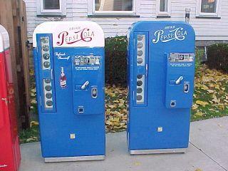 Coca Cola Coke Machines Vendo 81A 81B, 81D, CAV72, VMC PEPSI 81