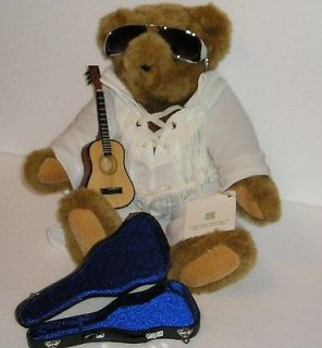 COLLECTIBLE ELVIS LOVE ME TENDER VERMONT TEDDY BEAR WITH GUITAR
