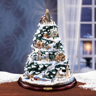 thomas kinkade christmas tree in Decorative Collectibles