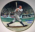 Legends Of Baseball The Great Babe Ruth CALLED SHOT Plate OrigBx+COA