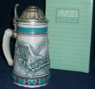 Avon Endangered Species Steins   Elephant, Jaguar, Panda, Eagle