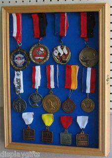 Lapel Pin patches Medal Display Case Shadow Box Cabinet, glass door