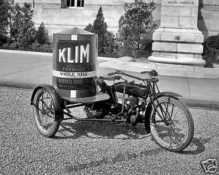 Photograph Vintage Image Cleveland Motorcycle Klim Powered Milk