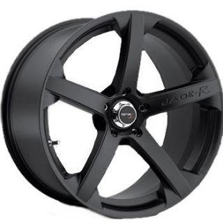 20x9.5 20x8.5 Staggered Black Wheel Drifz Jade R 5x112 Mercedes Rims