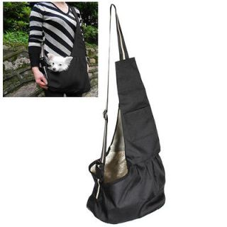 Black Oxford Cloth Sling Pet Dog Cat Carrier Tote Single Shoulder Bag