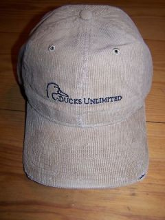 DUCKS UNLIMITED CORDUROY FRAYED HEAVY WASHED KHAKI HAT