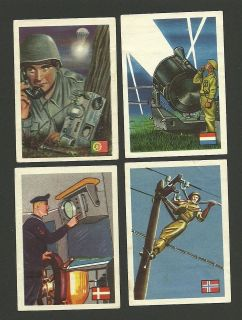 Military Communication Radio Search Light Parachute WWII Scenes