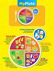 MY PLATE Food Groups Health Nutrition Educational Poster Chart CTP NEW