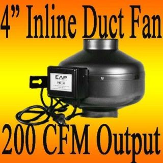 INCH HYDROPONIC 200CFM INLINE EXHAUST VENT FAN BLOWER 24 HR SHIPPING