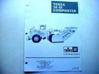 PiecesTerex 33C Wheel Loader, 74 51 Composter & More