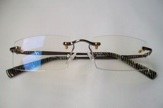 Computer glasses Radiation Protection Vision Care metal rimless 0
