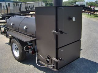BBQ SMOKER rib box on trailer concession GRILL great for all uses NEW