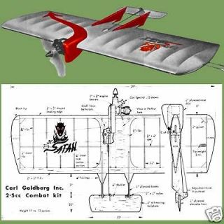 Sterling the flying fool control line wood model airplane kit for Cox plans