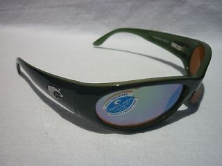 COSTA DEL MAR Swordfish Sunglasses POLARIZED Black Green/Green Mirror