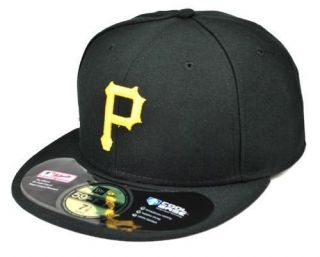 NEW ERA HAT 59FIFTY PITTSBURGH PIRATES GAME HAT CAP BLACK GOLD FITTED