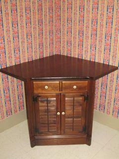 ethan allen corner cabinet