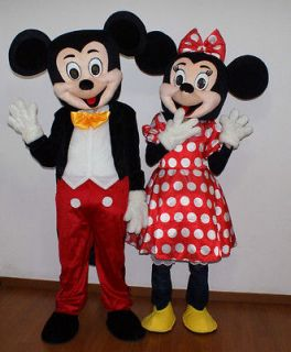 New Mickey and Minnie Mouse Mascot Costume Fancy Dress