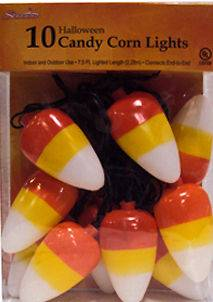 HALLOWEEN CANDY CORN BLOW MOLD LIGHTS STRING STRAND LIGHT BLOWMOLD IN