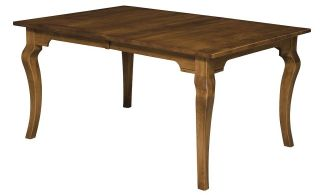 Dining Table Rectangle Leg Country Cottage Rustic Solid Wood Furniture