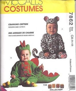 UNCUT McCalls Sewing Pattern Halloween Costume Dinosaur Leopard Tom