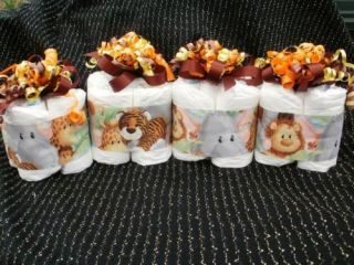 Jungle mini diaper cake jungle safari lion baby shower