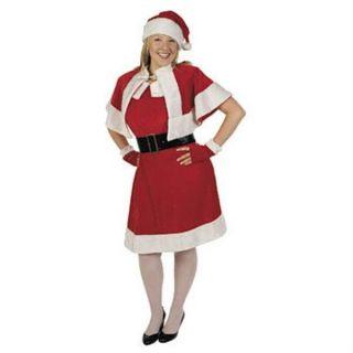Santa Helper Mrs Claus Dress Costume Adult Plus 16 20