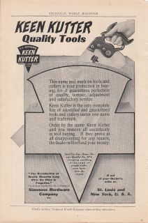 Simmons Hardware Co St Louis MO Ad Keen Kutter Quality Tools Hand Saw