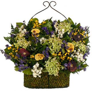 PANSY GARDEN DRIED FLORAL ARRANGEMENT   FLORAL SWAG   FLOWERS