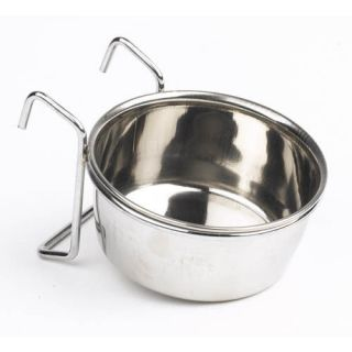Stainless Steel HOOK ON DOG BOWL Cage Crate Run Pen