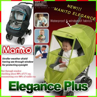 Manito] Elegance+ stroller weather shield Rain Cover