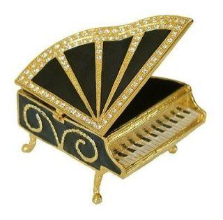 Piano Jewelry Trinket Box Swarovski Crystals #1132