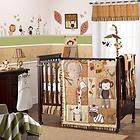 Monkey & Animal Unisex Baby Boy/Girl Zebra 9pc Nursery Jungle Crib Set