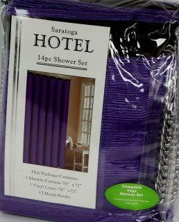 purple shower hooks in Shower Curtain Hooks