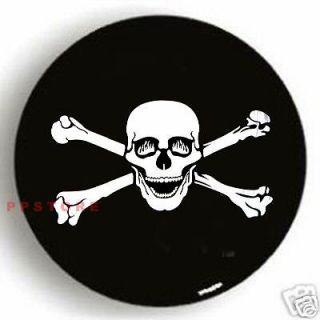 SPARE TIRE COVER 26.4 29 w/ Skull BN on bronco black zb329211p