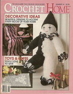 Crochet PATTERNS Magazine Book Afghans Clown Toys Doll Runner Doilies