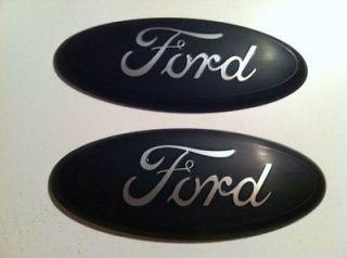 2004 11 Ford F 150 350 Grille/Tailgate Emblem,FLAT MATTE BLACK 9