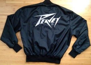 1995 PEAVEY Jacket Starter Style Black Silver Metal Raiders Amp Rock